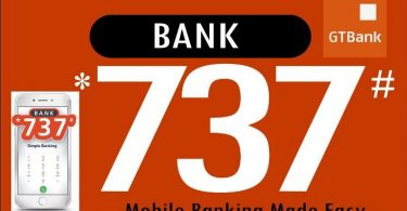 GTBank USSD Codes for transfer, recharge and payment of bills