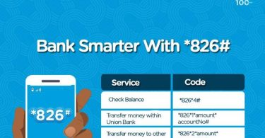 Union Bank USSD Codes for transfer, recharge and bill payment