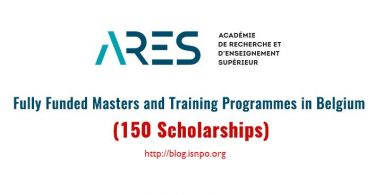 ARES Belgian Government Masters and Training Scholarships in Belgium