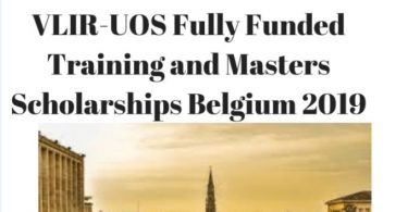 VLIR-UOS Masters (ICP) and Training Scholarships 2019/2020 by Belgium Government