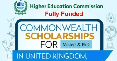 Commonwealth Master's Scholarships for Full-time Study at a UK university 2020 (Fully Funded)