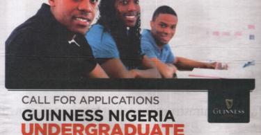 Guinness Nigeria Undergraduate Scholarship Scheme for Nigerians 2019/2020