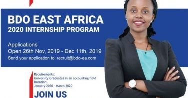 2020 BDO East Africa Internship Program