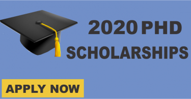 PhD Scholarships for 2020 Students