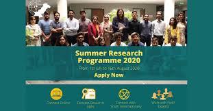 Summer Research Fellowship Programme 2020 Full Details